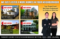 Just Listed Post cards Design ID#408 part of our real estate marketing post cards.