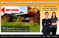 Just Listed real estate post cards to increase your listings and sales.