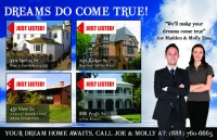 real estate postcard marketing. Just listed postcard design #412 for realtors.