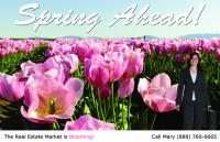 Spring Real Estate Postcards Prospecting for Realtor postcards.
